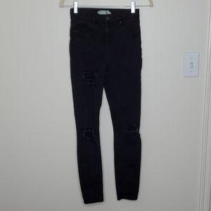 3/$20 TOPSHOP Jamie Black Distressed Skinny Jeans